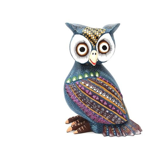 Bardo the owl oaxacan wooden carving for sale